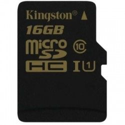 Карта памяти Kingston MicroSD 16GB Class 10 UHS-I (SDCA10/16GBSP)