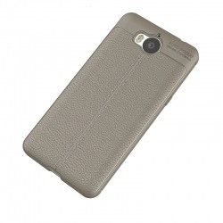 Накладка TPU Leather AF Back Cover Huawei Y5 (2017) Grey