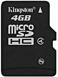 Карта памяти KINGSTON 4GB Micro SD Class4 (SDC4/4GBSP)