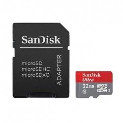 Карта памяти SanDisk Mobile Ultra microSDHC 32GB Class 10 UHS-I + SD-adapter (SDSDQUAN-032G-G4A)