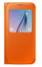 Чехол Samsung S View Zero для Samsung Galaxy S6 Orange (EF-CG920POEGRU)